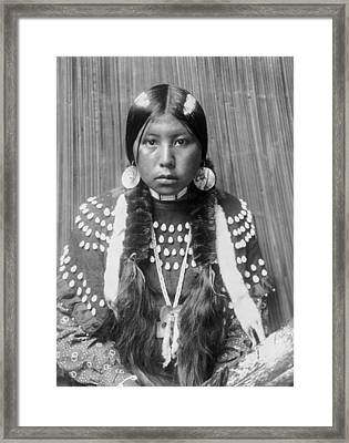 Kalispel Indian Woman Circa 1910 Framed Print