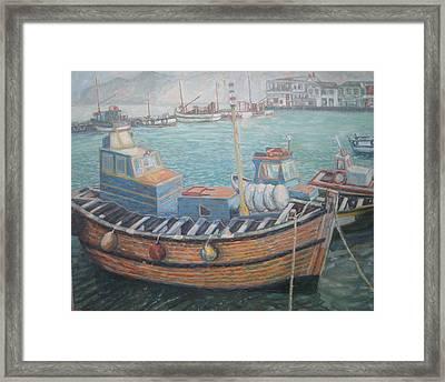 Kalk Bay Harbor Framed Print