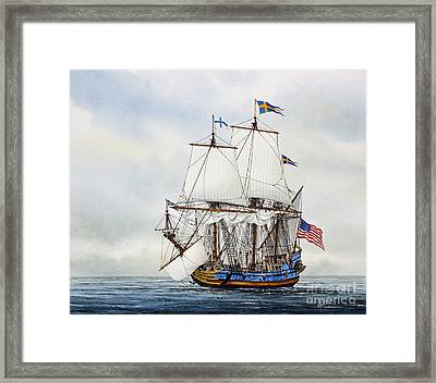 Kalmar Nyckel Framed Print by James Williamson