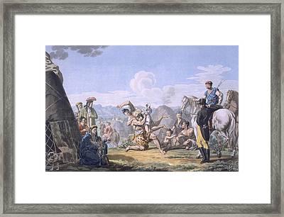 Kalmuks Wrestling, 1812-13 Framed Print
