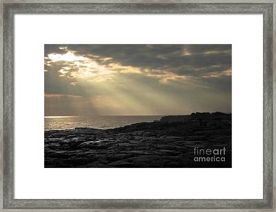 Framed Print featuring the photograph Kaloli Lani by Ellen Cotton