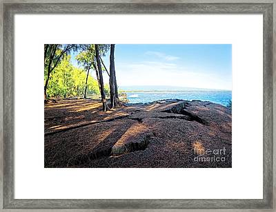 Framed Print featuring the photograph Kaloli Point 3 by Ellen Cotton