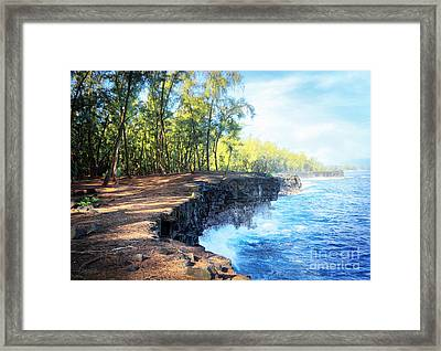 Kaloli Point Hawaii Framed Print by Ellen Cotton