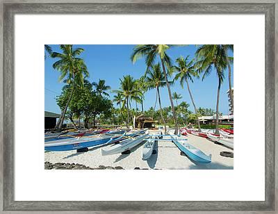 Kamakahonu Beach, Kailua-kona, Big Framed Print by Douglas Peebles