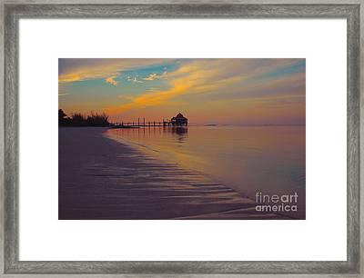 Kamalame Beach Framed Print by Carey Chen