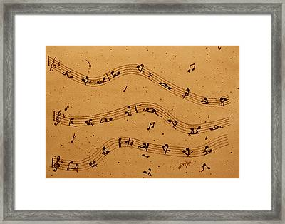 Kamasutra Music Coffee Painting Framed Print