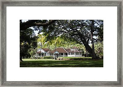 Kamehameha The Fifth Summer Cottage Framed Print by Craig Wood