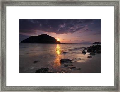 Kameshima Sunrise Framed Print by Aaron Bedell