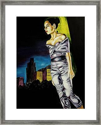 Kami On The Runway Framed Print by Kenal Louis