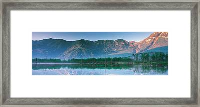 Kamikouch Taisho-ike Nagano Japan Framed Print by Panoramic Images