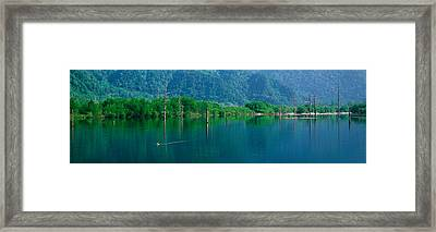 Kamikouchi Taisho-ike Nagano Japan Framed Print by Panoramic Images