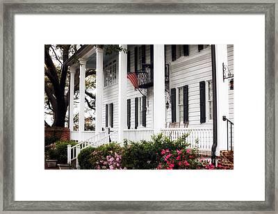 Kaminski Porch Framed Print by John Rizzuto