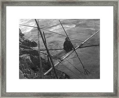 Kamloops Fisherman On Fraser Framed Print