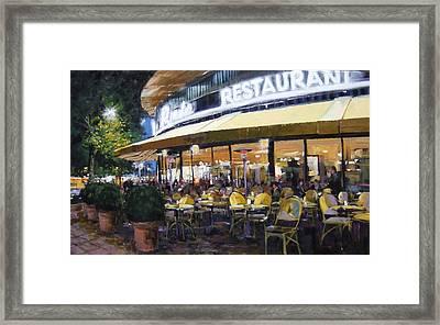 Kampinski Ecke - Berlin Framed Print by Michael Swanson