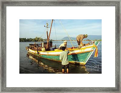 Kampot Boat 03 Framed Print