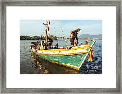 Kampot Boat 04 Framed Print