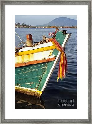 Kampot Boat 05 Framed Print