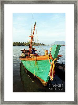 Kampot Boat 06 Framed Print