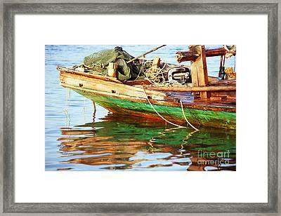 Kampot Boat 07 Framed Print