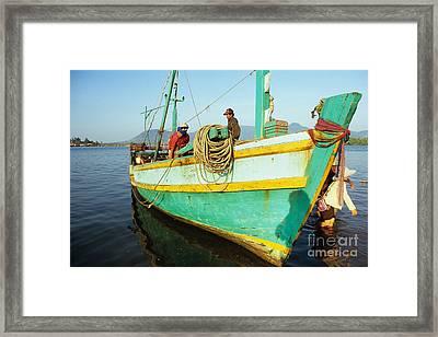 Kampot Boat 10 Framed Print
