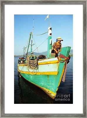 Kampot Boat 11 Framed Print