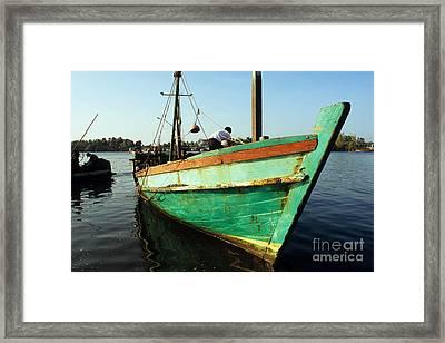 Kampot Boat 12 Framed Print