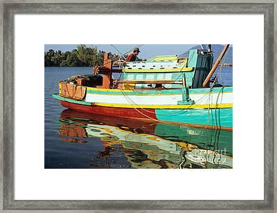 Kampot Boat 13 Framed Print