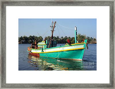 Kampot Boat 14 Framed Print