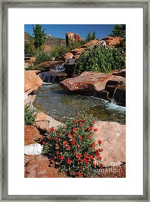 217p Kanab Ut Water Feature Framed Print
