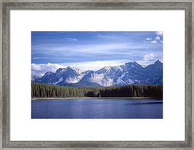 Kananaskis Mountains Lake Framed Print by Jim Sauchyn