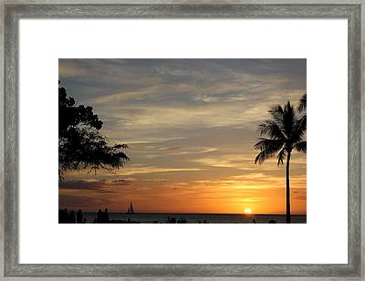 Kanapali Sunset Framed Print