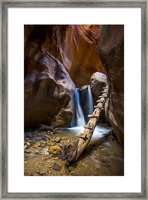 Kanarra Creek Slot Canyon Framed Print