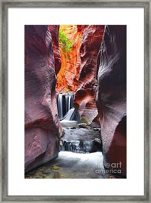 Kanarra Falls Framed Print