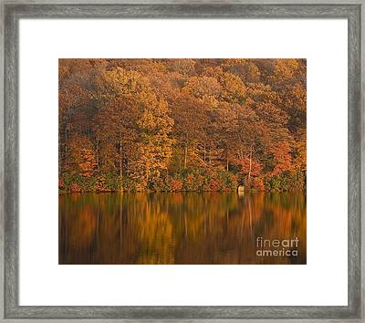 Kanawauke Lake Sundown Framed Print by Susan Candelario