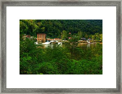 Framed Print featuring the photograph Kanawha Falls by Dave Files