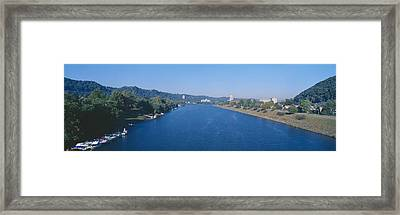 Kanawha River, Charleston, West Virginia Framed Print by Panoramic Images