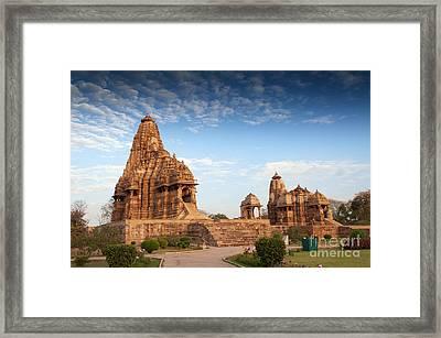 Kandariya Mahadeva Temple Khajuraho India Unesco World Heritage Site Framed Print by Rudra Narayan  Mitra