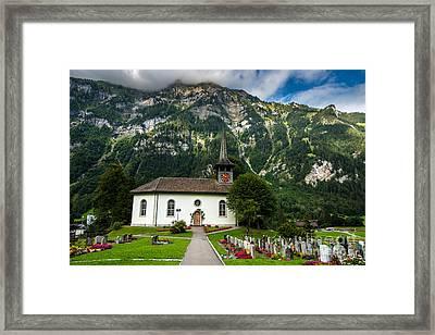 Kandergrund Church - Switzerland Framed Print by Gary Whitton