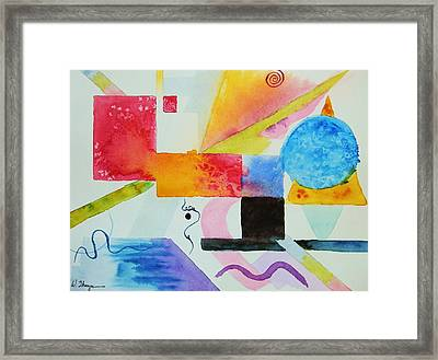 Kandinsky Dreaming Framed Print by Warren Thompson