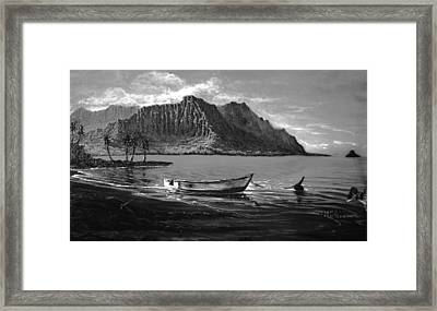 Kaneohe Bay Early Morn - Study Framed Print