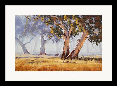 Grazing Framed Prints