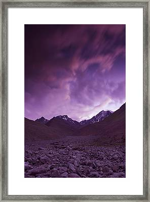 Kangri Twilight Framed Print by Aaron Bedell