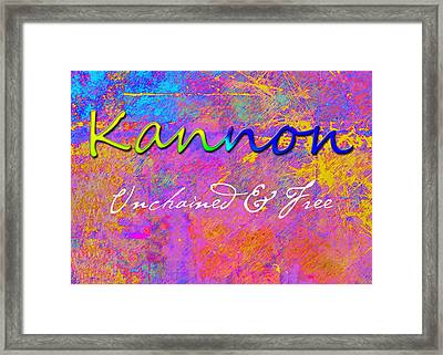 Kannon - Unchained And Free Framed Print by Christopher Gaston