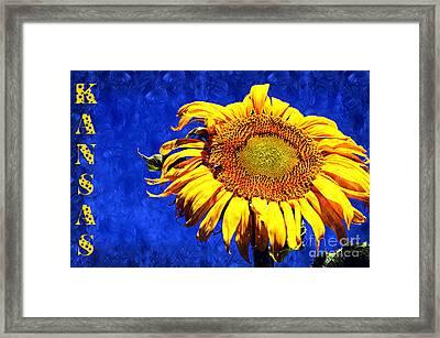 Kansas Framed Print by Andee Design