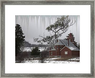 Kansas Church Framed Print by Liane Wright