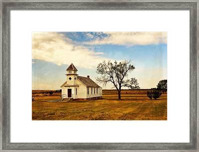 Kansas Church Framed Print by Marty Koch