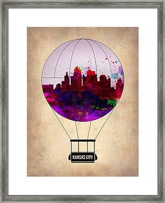 Kansas City Air Balloon Framed Print by Naxart Studio