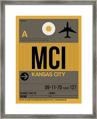 Kansas City Airport Poster 1 Framed Print by Naxart Studio