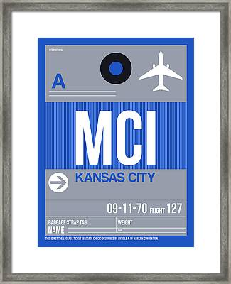 Kansas City Airport Poster 2 Framed Print by Naxart Studio