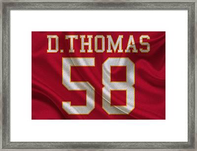 Kansas City Chiefs Derrick Thomas Framed Print by Joe Hamilton